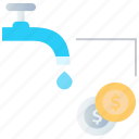 budget, cash, coin faucet, dollar, mining, payment, planning icon