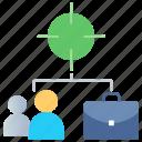 achieve, focus, goal, seo, target, teamwork icon