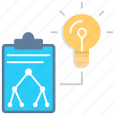 hierarchy, idea, project workflow, schema, solution, vision icon