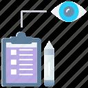 brief, idea, list, market research, seo monitoring, tasks, vision icon
