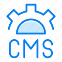 cms, code, design, gear, options, settings icon