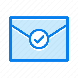 checkmark, conversation, envelope, mail, message icon