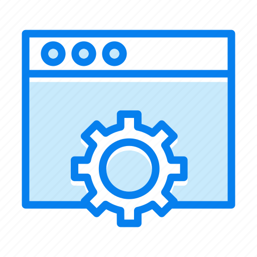 browser, gear, options, seo, settings, web page icon