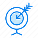 aim, bullseye, goal, success, target icon
