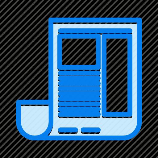 blog, news, newspaper icon