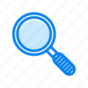 glass, magnifier, search, zoom icon