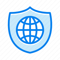 globe, protect, protection, security, shield icon