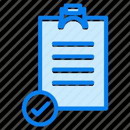 check, checklist, checkmark, done, survey icon