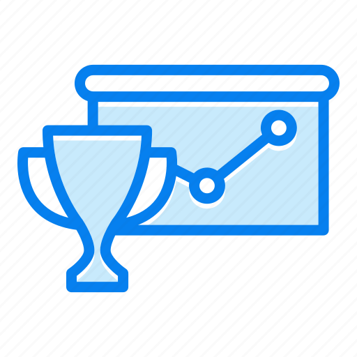 analytics, diagram, graph, trophy icon