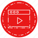 video, web page, youtube icon