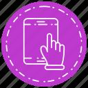 slide, tablet icon