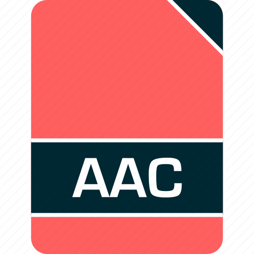 aac, doc, document, file icon