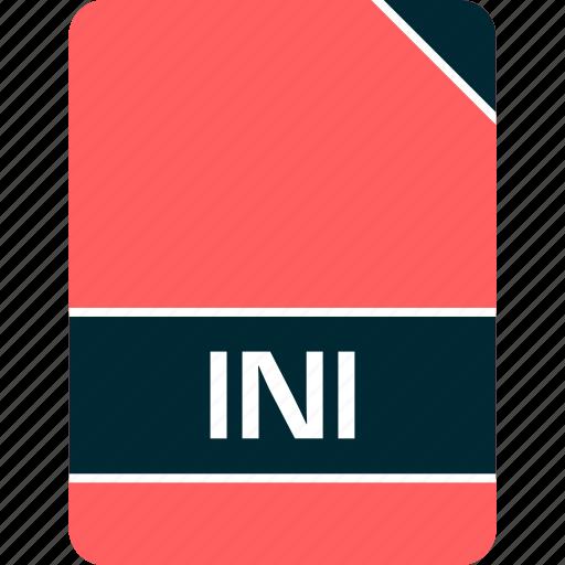 doc, document, file, ini icon