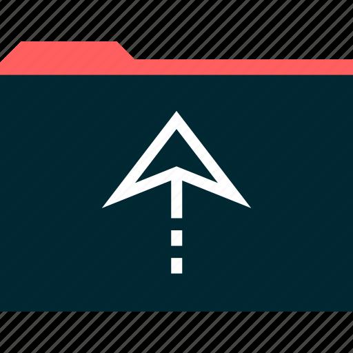 archive, arrow, good, up icon