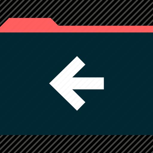 archive, back, folder icon