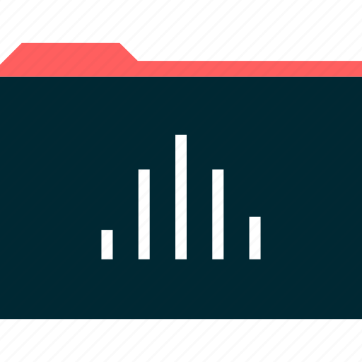 archive, bars, data, folder icon