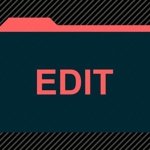 edit, file, files, folder icon