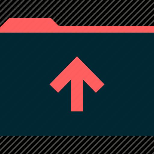 archive, arrow, file, folder icon