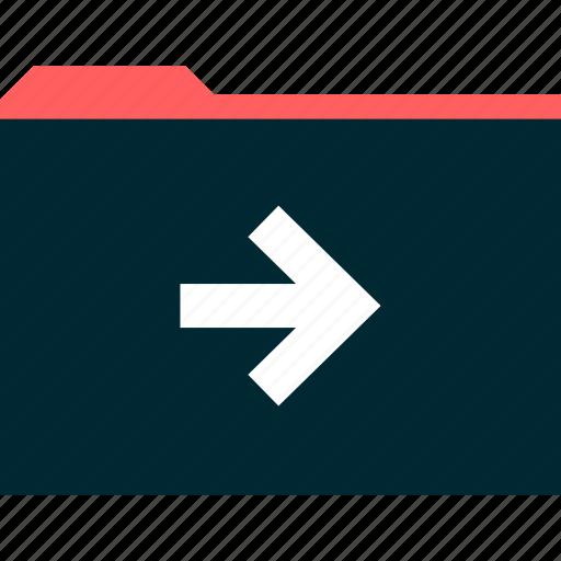 arrow, file, go, next icon