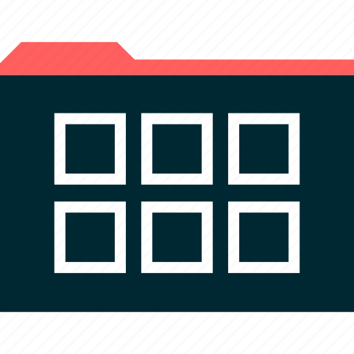 boxes, file, gallery, grid icon
