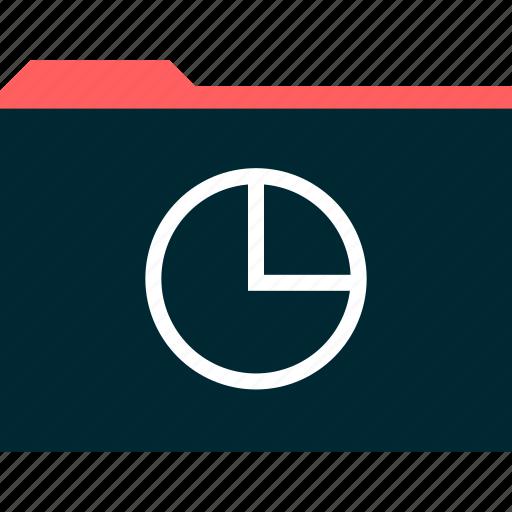 chart, file, folder, pie icon
