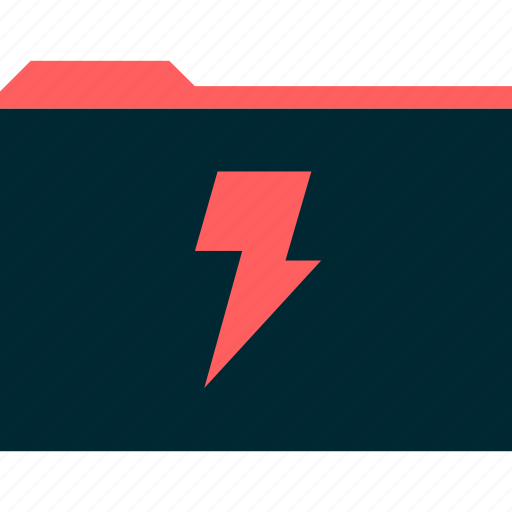 archive, lightning, power icon