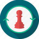 business, chess, game, management, piece, strategy icon