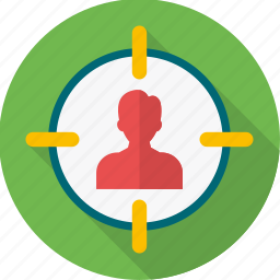 focus, optimization, seo, shoot, shooting, target, target customer icon