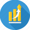 business, chart, diagram, graph, growth, presentation, report icon