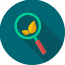 eco, search, seo, ecology, leaf, magnifier, optimization icon