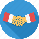 agreement, business, contract, deal, handshake, meeting, shakehand icon
