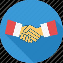 agreement, business, contract, deal, handshake, meeting, shakehand icon