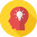 brain, idea, business, head, lightbulb, mind, thinking