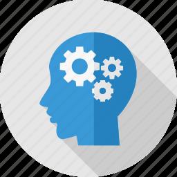 brain, content, human, management, mind, process icon