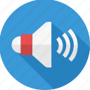 audio, loudspeaker, media, music, sound, speaker, volume icon