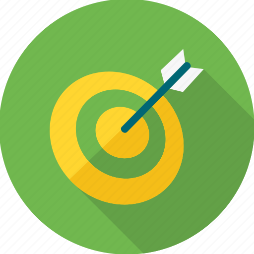achievement, aim, bullseye, goal, shoot, shooting, target icon