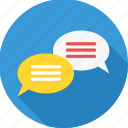bubble, chat, comment, comments, conversation, sms, text icon