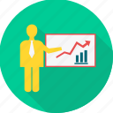 board, business, graph, office, presentation, report, work icon