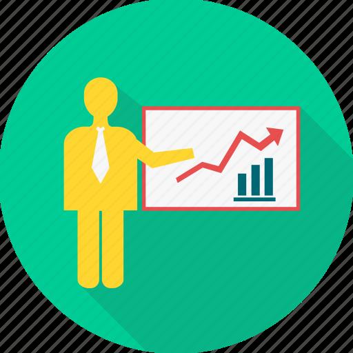 board, business, graph, office, presentation, report, work icon