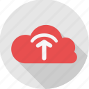 cloud, computing, database, server, storage, upload icon