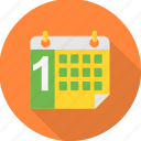 calendar, date, day, one, month, schedule, 1