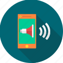 media, mobile, music, song, sound, speaker, volume icon