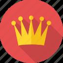 king, prince, success, achievement, crown, reward, win icon
