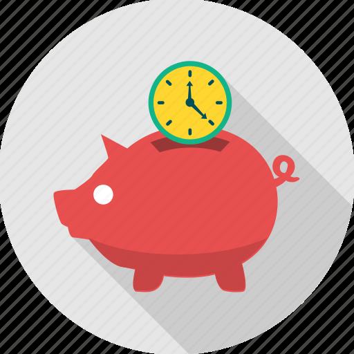 bank, banking, cash, save, saving, savings, time icon