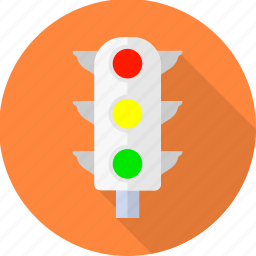 light, lights, road, sign, signal, traffic, transport icon