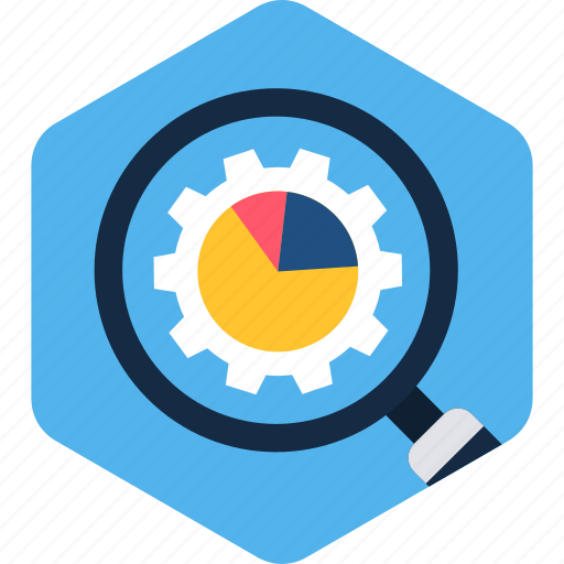 find, glass, graph, magnifier, magnifying, search, zoom icon