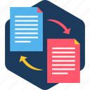 copy, document, duplicate, file, page, paper, paste icon