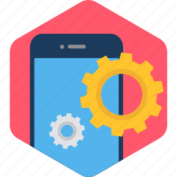 gear, mobile, phone, preferences, setting, settings, smartphone icon