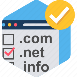 browser, domain, extension, name, names, online, web icon