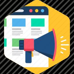advertisement, announcement, media, multimedia, player, sound, web icon